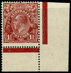AUSTRALIA SG126, 1½d red-brown, NH MINT. MARGINAL.