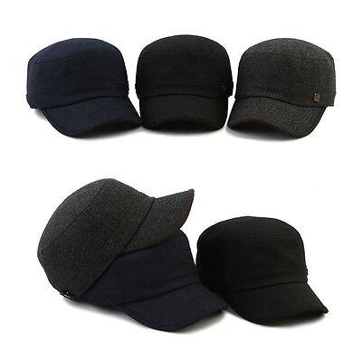 Unisex Mens Womens Mqum Casual Plain Military Cadet Cap Trucker Adjustable Hats