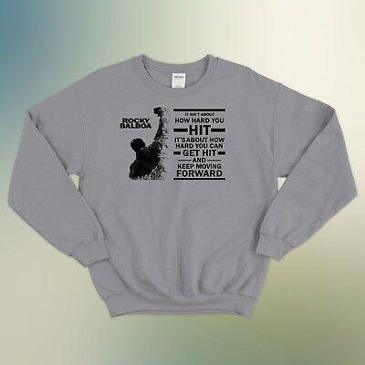 Rocky Balboa Quote Italian Stallion Gym Boys Cool Unisex Jumper Sweatshirt Top
