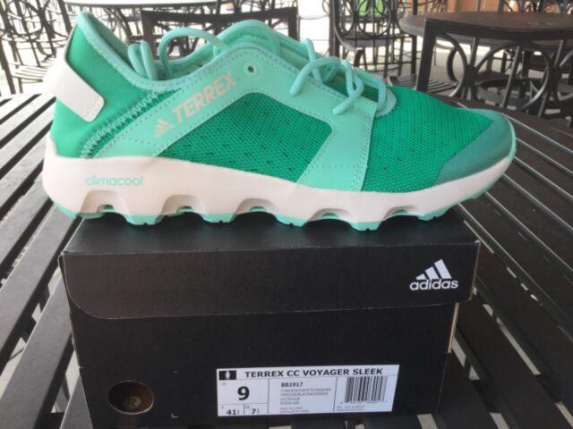 official photos 35427 4b59d Women's adidas Terrex CC Voyager Sleek Shoes Green/white 9 Style BB1917