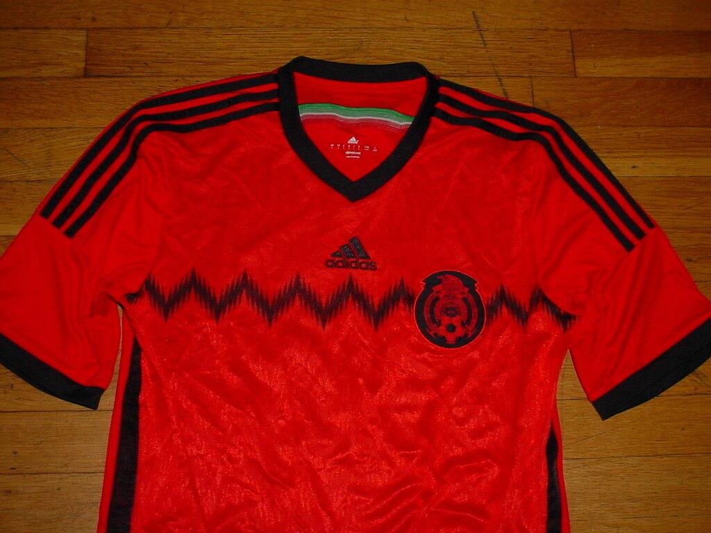 Vintage 2010 Mexico Soccer Jersey por Adidas ClimaCool Rojo / negro # 12 Men L Nice!