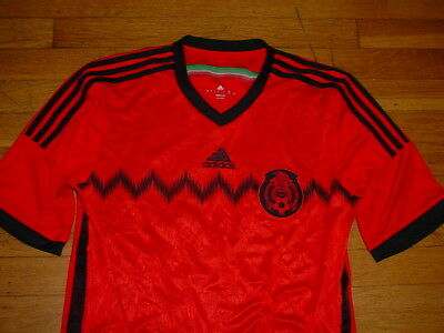 Vintage 2010 Mexico Soccer Jersey By Adidas ClimaCool Red/black #12 Men L Nice! | eBay