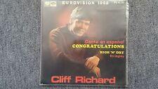 "Cliff Richard-Que Buena Suerte 7"" Eurovision Spanish"