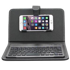 enkay wireless bluetooth keyboard leather case for iphone 6s plus samsung s7 etc ebay. Black Bedroom Furniture Sets. Home Design Ideas