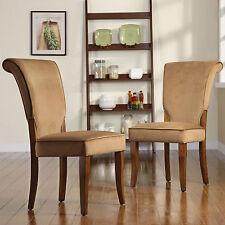 Andorra Peat Velvet Upholstered Dining Chair by TRIBECCA HOME (Set of 2)