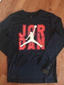 NWT Nike Air Jordan Jumpman Youth Long Sleeve Shirt Little Boys Girls Raglan