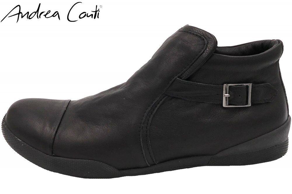 Andrea Conti Damen Stiefelette Schwarz Schuhe Leder 344591002