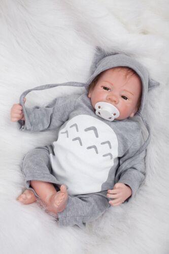 Reborn Toddler Dolls 18'' Handmade Lifelike Baby Silicone Vinyl Boy Doll