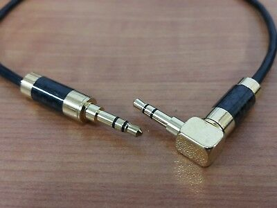 3.5mm stereo male to Male Aux Audio Cable Japan Carbon Rhodium Plug mini jack