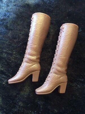Mattel Barbie vintage 70er Jahre Stiefel Gemarkt braune Stiefel Schuhe Sammler