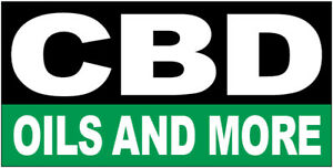 CBD OILS AND MORE Vinyl Banner Sign 2X4 ft  - kb