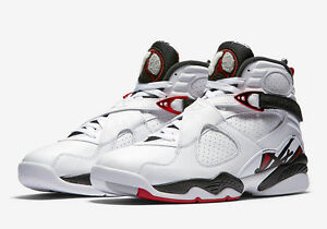 Nike Air Jordan 8 Retro Alternate Size 9.5 White Gym Red Wolf Grey 305381-104