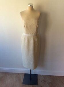 Pencil 12 Jaeger Occasion Size Special Dress Ivory Strapless UUqHPf