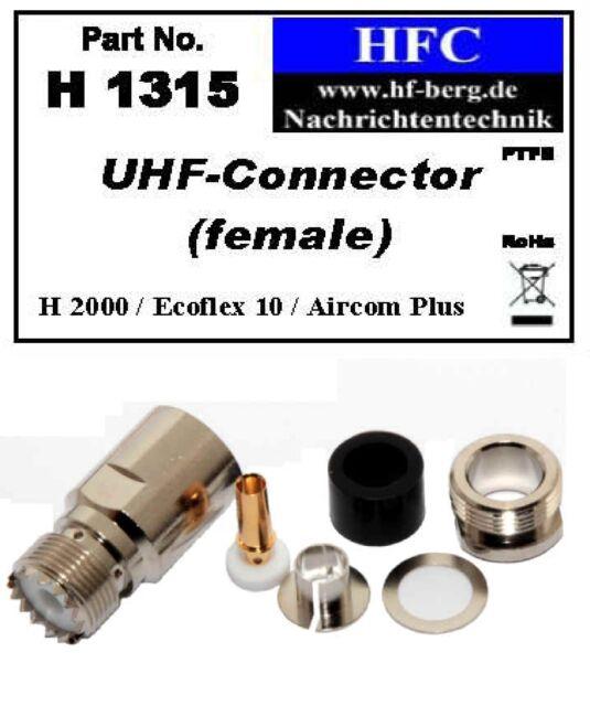 1 Stück UHF-Buchse für Ecoflex 10 / Aircom Plus / H 2000 Flex® - 50 Ω (H1315)