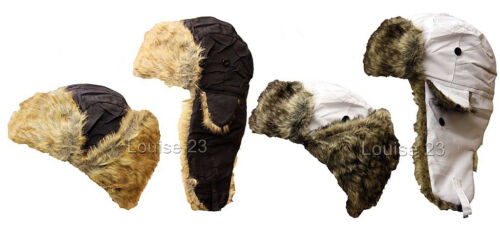 X39 MENS LADIES SHOWER PROOF BREATHABLE FAUX FUR THERMAL TRAPPER SKI RUSSIAN HAT