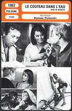 FICHE CINEMA : LE COUTEAU DANS L'EAU - Roman Polanski 1962 - Knife in the Water