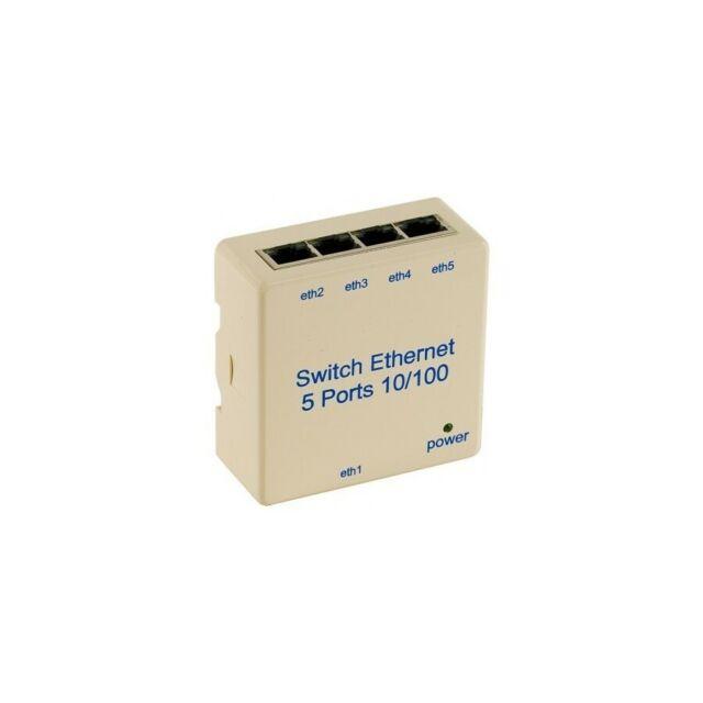 Générique Switch 5 PORTS10/100 pour rail din
