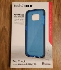 Genuine Tech21 Evo Check ultra thin protective case blue For samsung Galaxy S6