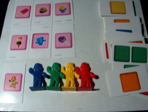 2010 Candy Land Game Replacement 64 Cards and 4 Movers   pawns