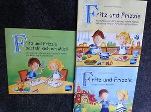3 x Kinder Rezepthefte Rezepte KINDERKOCHBUCH Fritz und Frizzie -- NEU Basteln - Aschaffenburg, Deutschland - 3 x Kinder Rezepthefte Rezepte KINDERKOCHBUCH Fritz und Frizzie -- NEU Basteln - Aschaffenburg, Deutschland