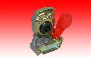 Kupplungskopf mit Ventil LKW 16x1,5 Traktor Druckluftbremse Gelb