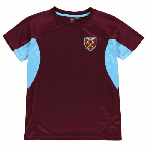Source Lab Kids Boys West Ham United T Shirt Junior Licensed Crew Neck Tee Top