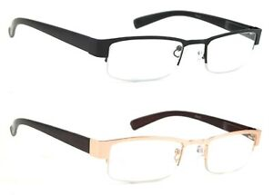 75adf836bfc NWT Half Frame Optical Reading Glasses Men Women Reader Metal Spring ...