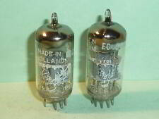 Amperex ECC88 6DJ8 Bugle Boy D Getter Tubes - Matched Pair, Test NOS, 1959 Codes