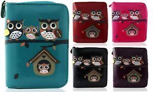 KukuBird Owl Family Tree Pattern Medium Size Ladies Purse Clutch Wallet