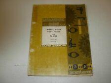 International Hough Payloader H 70b Wheel Loader Parts Manual Issued 1980