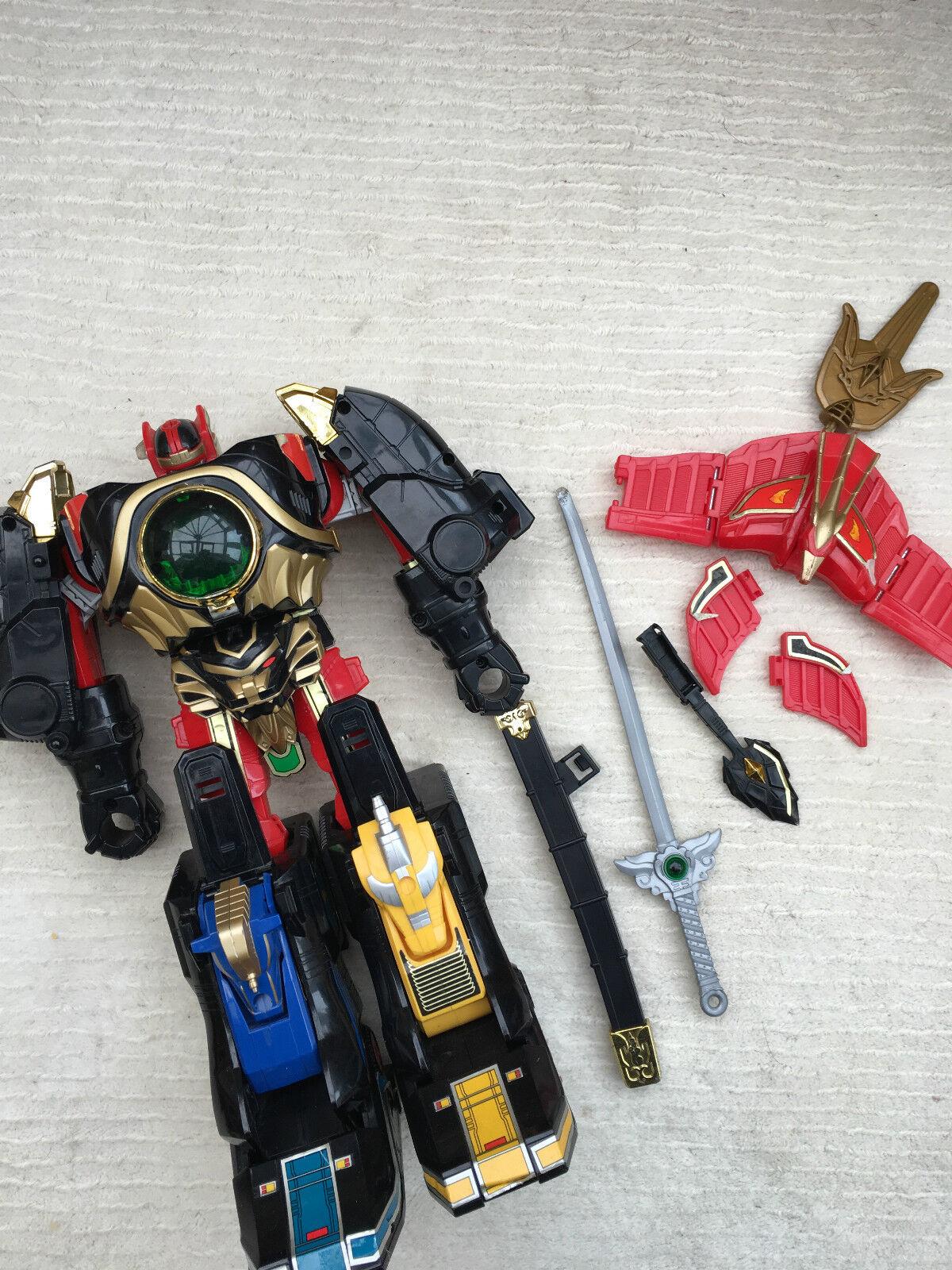 Power rangers donner megazord seltenen original spielzeug     sehr altes spielzeug wie vorgestellt