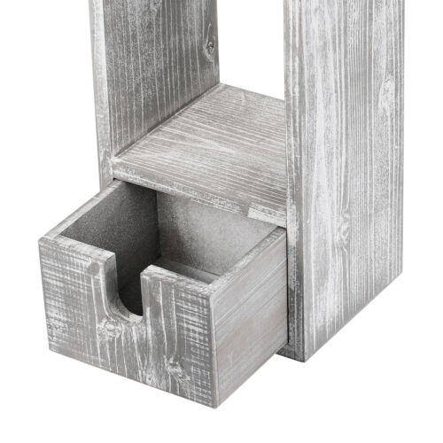 Bathroom Toilet Tissue Paper Roll Holder Stand-Gray NEX Toilet Paper Holder