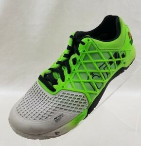 Image is loading Reebok-Crossfit-Running-Training-Womens-Lime-Gray-Black- 78c2d0007