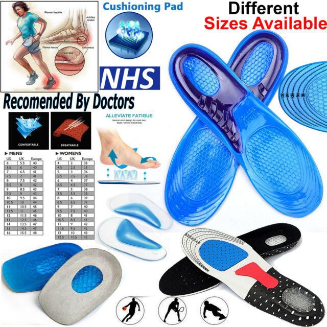Shock Doctor Active Ultra Insoles Arch Foot Cushion Support Plantar Fasciitis