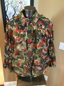 Swiss army surplus M83 field jacket in Alpenflage camo