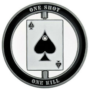 US Sniper Marksman One Shot Spinner Lucky Challenge Coin US SELLER FAST SHIPPING