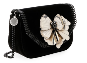 daf3290bf85 Image is loading Stella -McCartney-Mini-Falabella-MetalButterfly-Box-Shoulder-Bag-