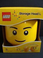 Lego Storage Head L Large Boy Bricks Organizer Yellow Minifigure Tub