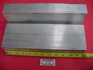 """10 pieces 1//2/"""" X 3/"""" ALUMINUM 6061 FLAT BAR 3/"""" long T6511 SOLID Plate Mill Stock"""