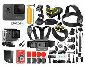 GoPro-HERO-5-Black-Edition-Touch-Screen-Camera-40-PCS-Sports-Accessory-Bundle