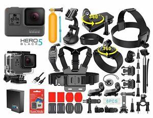 GoPro-HERO-5-Black-Edition-Touch-Screen-Camera-40-PCS-Sports-Accessory-Bundle