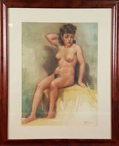 NAKED-WOMAN-DRAWING-MIXED-MEDIA-ON-PAPER-GARCIA-TORRES-TWENTIETH-CENTURY
