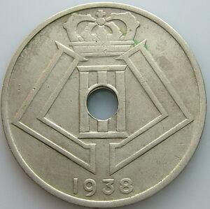 1938 Belgique Belgique Belgie 25 Cents Centimes Kwji4n5o-08012148-635802707