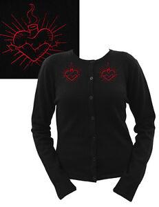 603102a550 Steady Gothic Lolita Punk Cute Casual Black Sacred Heart Cardigan ...