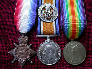 1914-Wounded-Replica-Copy-Medal-Group-Aged-Full-size
