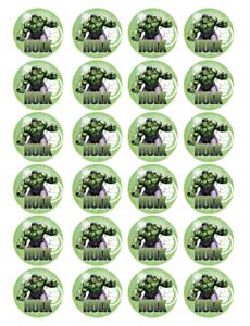 24 x Large Incredible Hulk Edible Cupcake Toppers Birthday ...