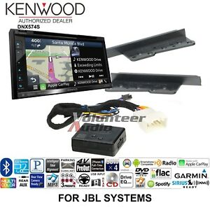 details about kenwood dnx574s double din cd player car radio install mount kit backup camera license plate toyota sequoia rse 2002 aftermarket