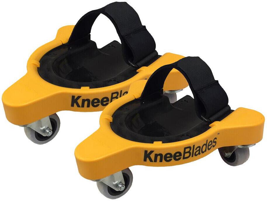 Milescraft Rolling Knee Pads Adjustable Plastic Taperot Gel Knee-Blades Durable