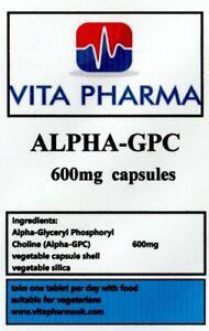 Hoch-Staerke-Alpha-99-Gpc-600mg-60-Kapseln-Cognitive-Funktion-Gehirn-Gesundheit