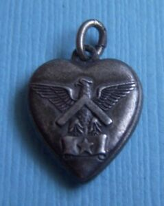 Vintage-eagle-military-puffy-heart-sterling-charm